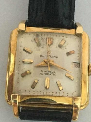Breitling Relogio De Pulso Automatico Caixa Ouro 18/750