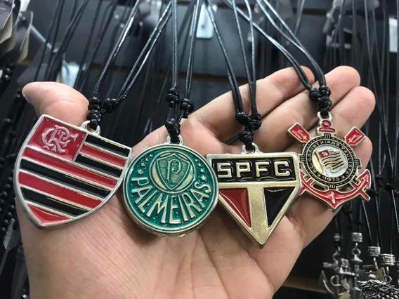 Colar Time Corinthians Flamengo Palmeiras 12 Peças Atacado