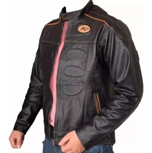 Kit Jaqueta Masculina E Feminina Harley Couro