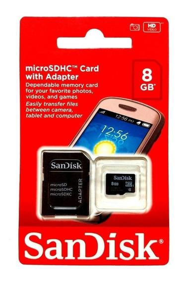 Cartões De Memória Sandisk 8gb Original Micro Sd