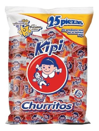 Imagen 1 de 2 de Kipi Churritos Con 25 Pzas De 10 G C/u