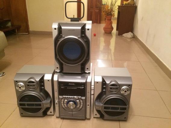 Equipo De Sonido Panasonic 5 Cd Con 3 Cornetas