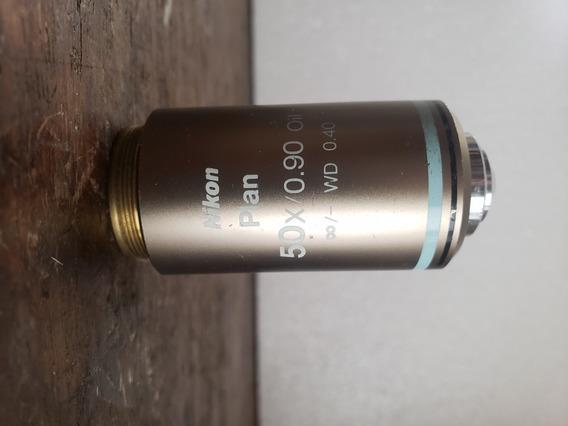 Objetiva De 50x Para Microscópio Nikon Modelo E200/e400