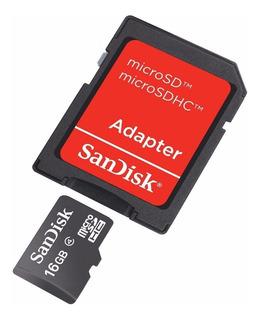 Cartão De Memoria Micro Sd Sandisk 16gb Original