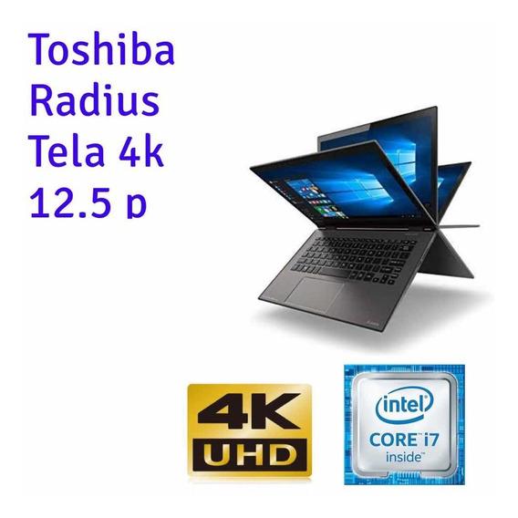 Notebook Ultrabook Toshiba I7 Ssd Tela 12 4k 2 Em 1 Hello