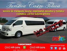 Renta De Camionetas En Toluca Para 10.12.13.14.20 Personas