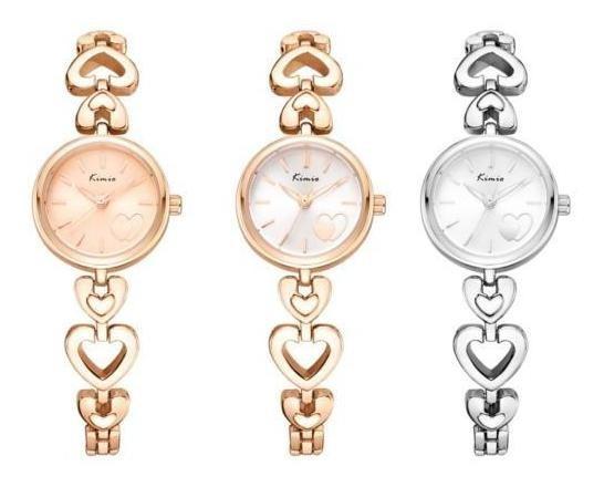 Kimio K6206s Moda Mulheres Relógio De Quartzo Elegante Coraç