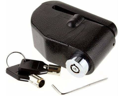 Candado-alarma Freno Disco Seguridad Para Motocicleta Y Bici