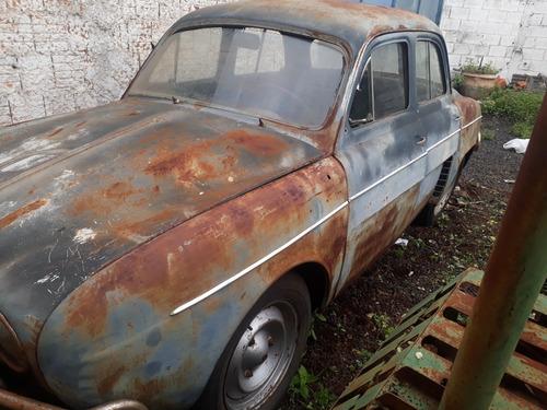 Gordini Teimoso Raro 1965 Placa Cinza 3 Letras A Restaurar