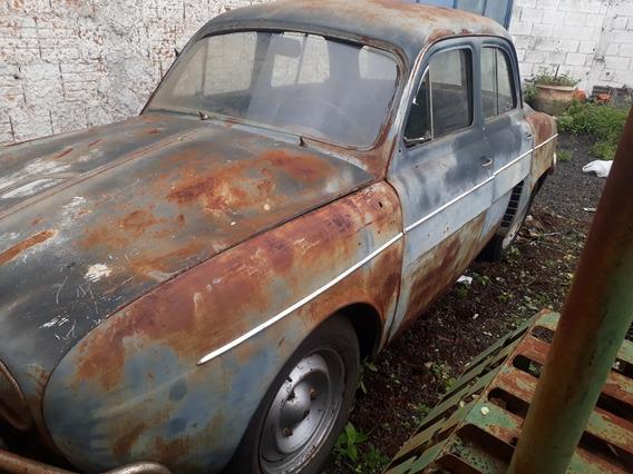 Gordini 1965 Placa Cinza 3 Letras A Restaurar Willys Renault