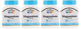 Magnésio 250 Mg 21st Century 4 X 110 Tabletes Importado Eua