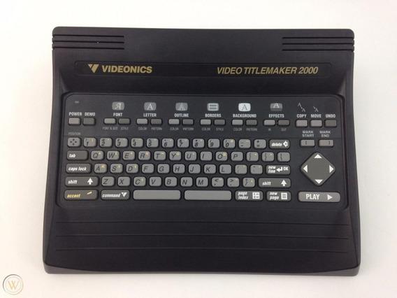 Video Titlemaker 2000 Videonics Com Defeito (não Liga).