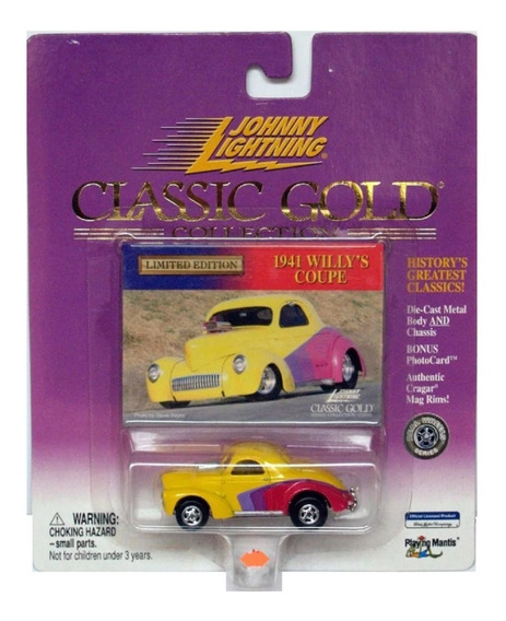 Johnny Lightning 1941 Willys Coupe Ruedas Goma Solo Envios