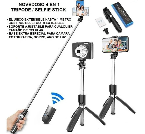 Selfie Stick Y Tripode Monopad 4 En 1 Version 2020 Bluetooth