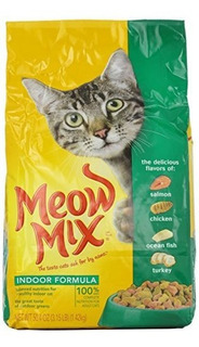 Meow Mix Cat Food, Fórmula Para Interiores, 3.15 Lb