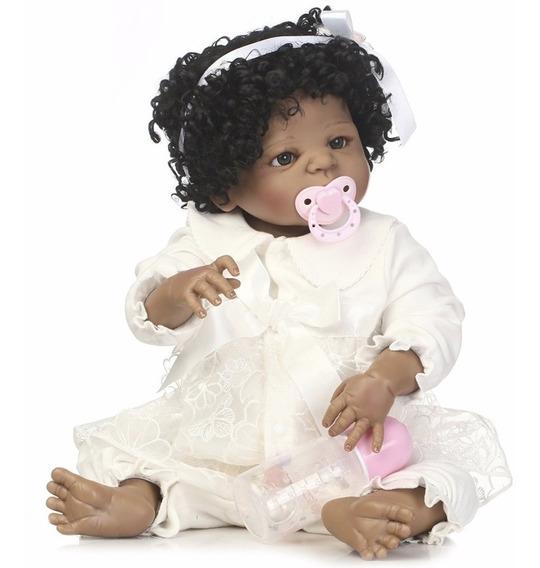Boneca Bebê Reborn Loira Silicone + Enxoval Pronta Entrega