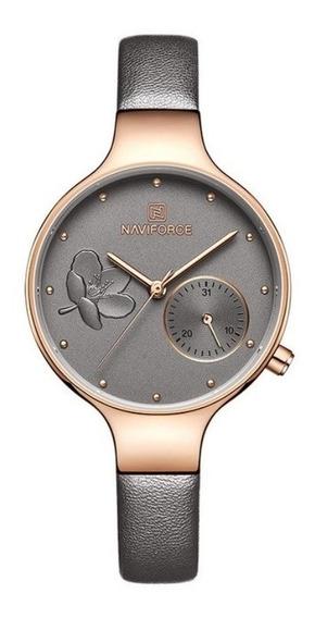Relógio Naviforce Feminino Luxuoso Original + Nota Fiscal