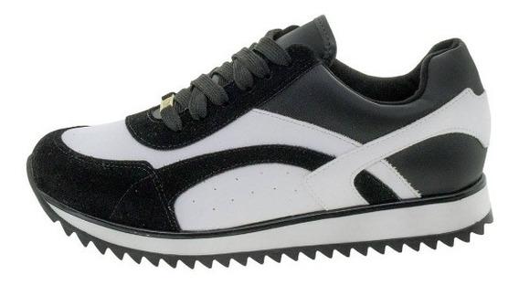 Tênis Vizzano Esportivo Feminino -preto E Branco N° 37