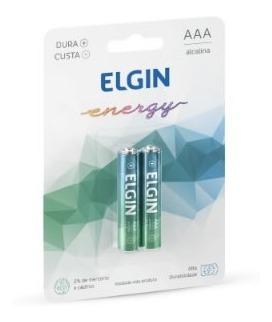 Pilha Alcalina Elgin Aaa - Caixa C/10 Blister C/2 Unid.
