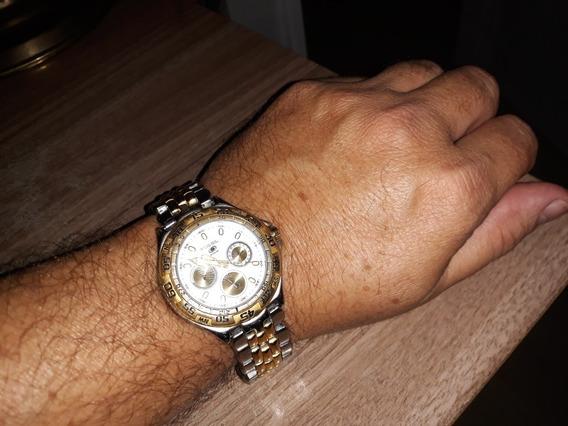 Relógio Original Fóssil Blue Cor Prata E Ouro Semi Novo !!!!