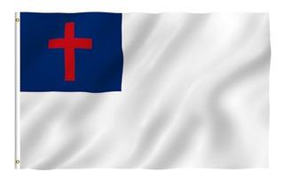 Bandera Cristiana Polyester 90 X 150 Cms.