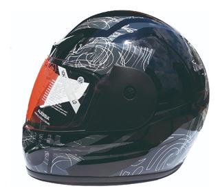 Casco Moto Cerrado Alessia Dragonet Negro