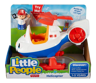 Fisher-price Little People Helicóptero Com Frases E Músicas