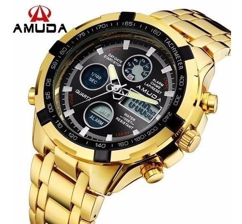 Relógio Dourado Novo 200,00 Frete Grátis