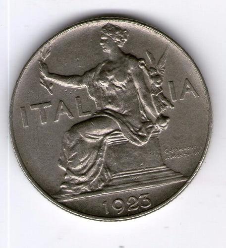 Italia Moneda 1 Lira 1923 Eb Km#62 - Argentvs