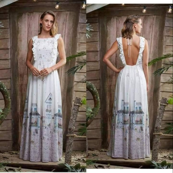 Vestido Longo Kombi De Flores Antix
