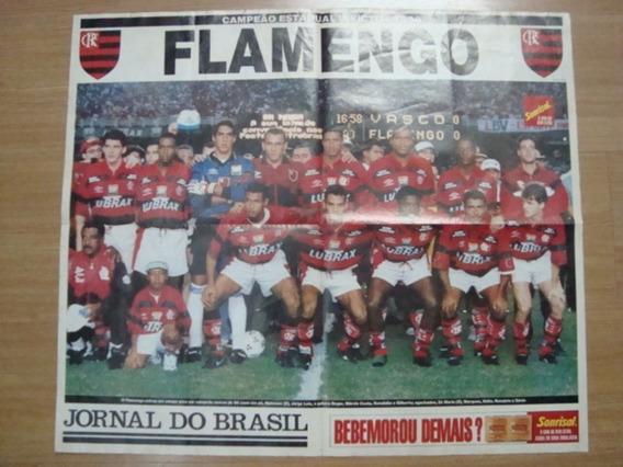 Revista Poster Futebol Jb 1996 Flamengo Campeão Carioca