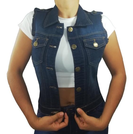 Chaleco Mezclilla Casual Fresco Jeans Ropa Mujer Hkl
