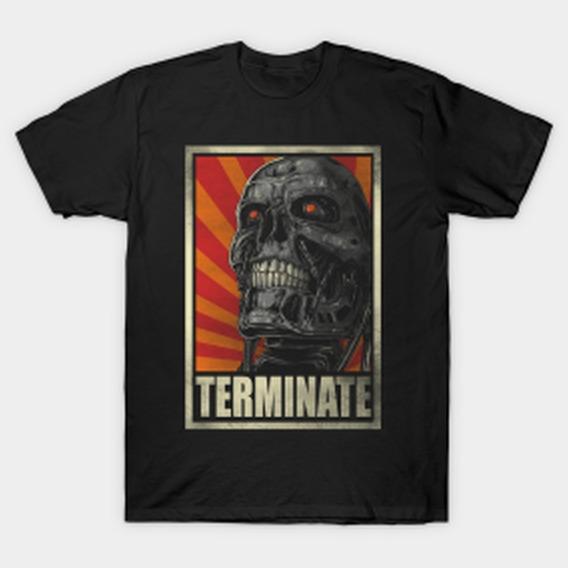 Remera Terminator Hombre Stock Negro O Blanco Firefly A 14