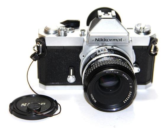 Câmera Nikon Nikkormat Ft3 Analógica Lente Nikkor 50mm 2.0