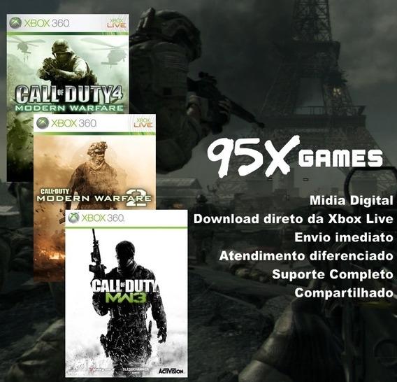 Midia Digital Xbox 360 - Pack Trilogia Cod Modernwafare