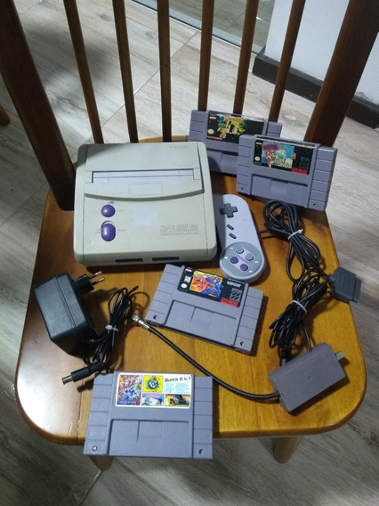 Super Nintendo Baby 4 Jogos, 1 Controle, Fonte E Cabo