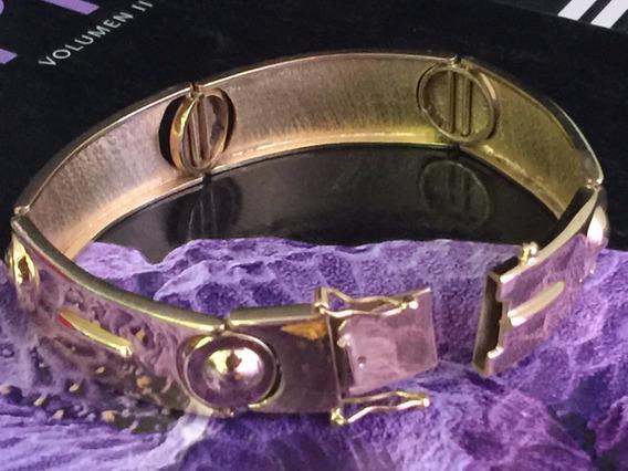 Pulseira Ouro 18k-750-41.9 Gr.maciço-comp.18cm, Larga.14mm.