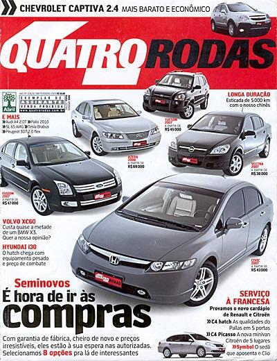 4r.588 Fev09- I30 Captiva Peug207 Civic Vectra Jetta Azera
