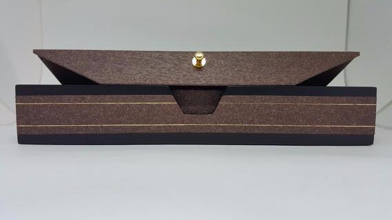 Caixa Estojo Presente Luxo Pulseira Colar Cordão Jóia Marrom