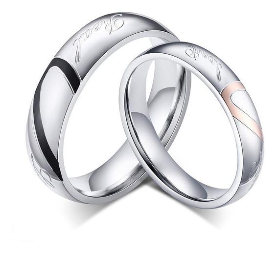 Alianças Anéis Noivado Compromisso Banhado Ouro Branco Par