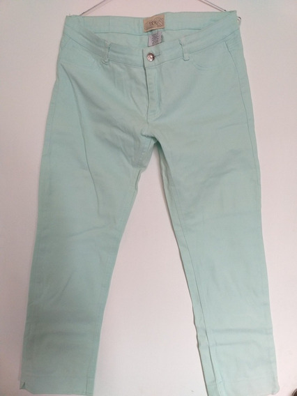 Pantalon Talla 10 Turquesa Nuevo Hermoso