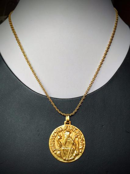 Colar C\pingente Em Ouro 18k-750-9.8gr.comp. 40cm.