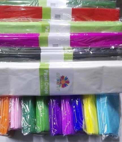 Papel Crepe Paquete X 10 Uni. De 50x200cm Colores A Elección