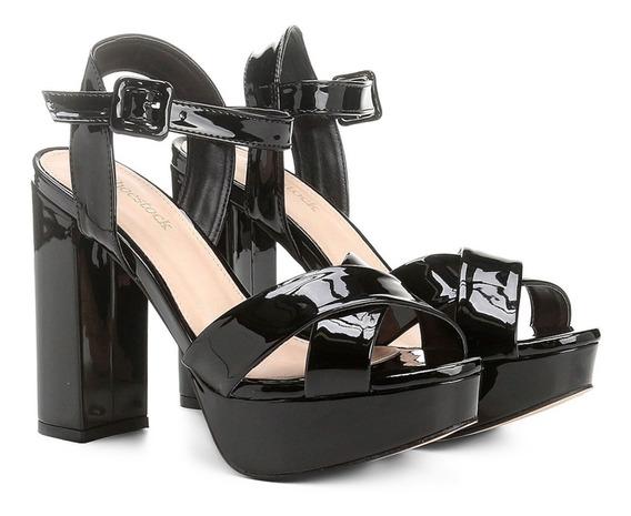 Sandália Shoestock Meia Pata Salto Alto Feminina - Tam 40