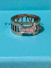 80ff4ffbda6a Tiffany Anillo Atlas Oro Rosa 18k 3 Diamantes
