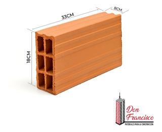 Hueco 8x18x33 - Materiales Don Francisco - Precio X Pallet