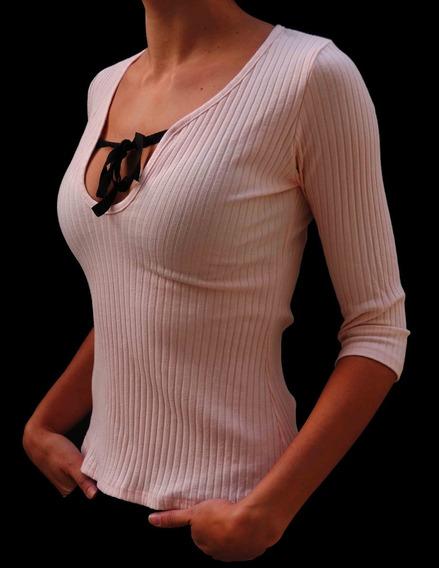 Remerita Mujer Top Morley Con Lazo En Escote