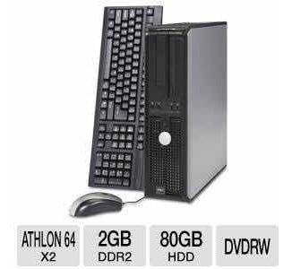 Computadores Dell Optiplex 740 Amd Atlhon 64/2gb Ddr2/hd80gb