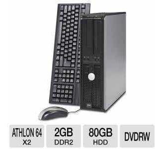 Computadores Dell Optiplex 740 Amd Atlhon 64/2gb Ddr2/hd80gb