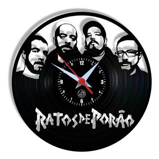 Relógio De Parede Vinil - Ratos De Porao Banda Rock Nacional